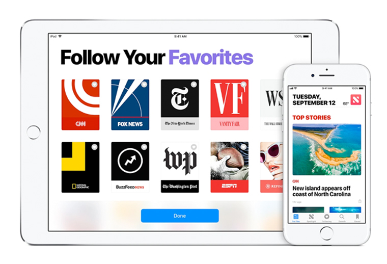 "Apple officials describe Apple News+ as an ""omnibus newsstand"" with 300 publications, mostly magazines, available to audiences in the United States, Canada, Australia, and the United Kingdom."