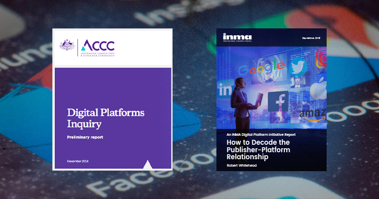 The ACCC's original report and INMA's Digital Platforms report, in which the ACCC and other worldwide government inquiries are detailed.