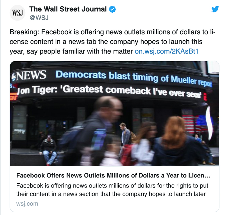 The breaking news story revealed The Washington Post, ABC News, Dow Jones, and Bloomberg to be among the news media companies offered the contract.