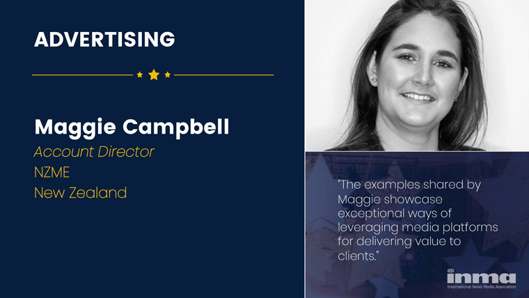 Maggie Campbell is account director at NZME in New Zealand.
