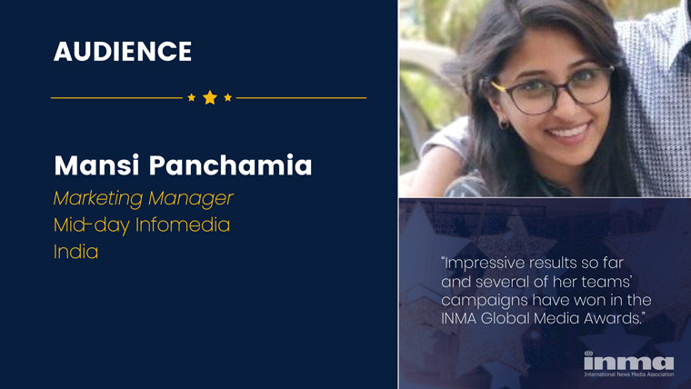Mansi Panchamia is marketing manager/corporate marketing and strategy at Mid-Day Infomedia in India.