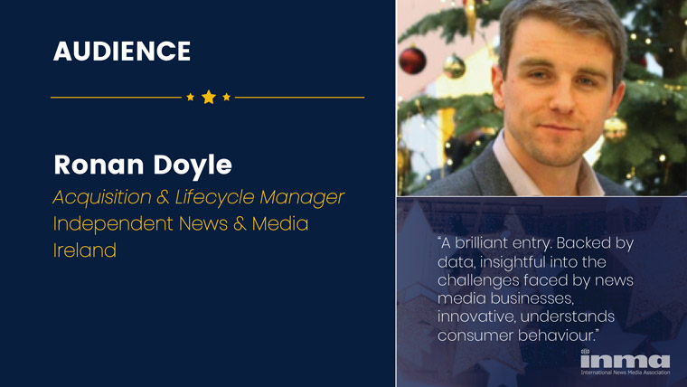 Ronan Doyle is acquisition and lifestyle manager at Independent News & Media in Ireland.