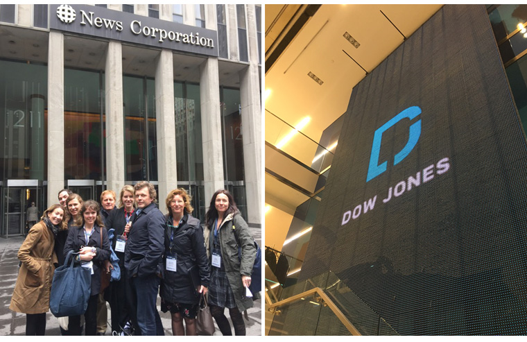 Study tour participants spent half a day at News Corp, most of it with the company's data team.