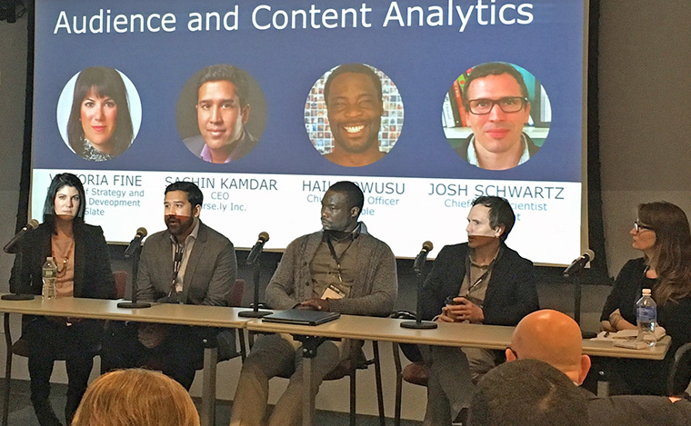 A panel on audience and content analytics was one of two data discussions on the study tour.