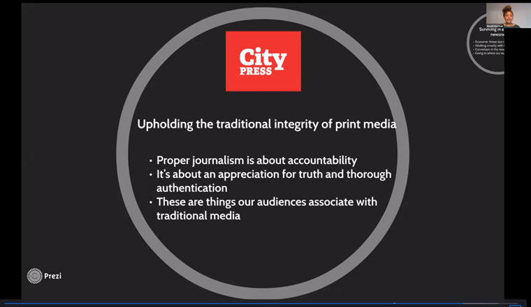 Print media is important even as City Press moves toward digital audiences.