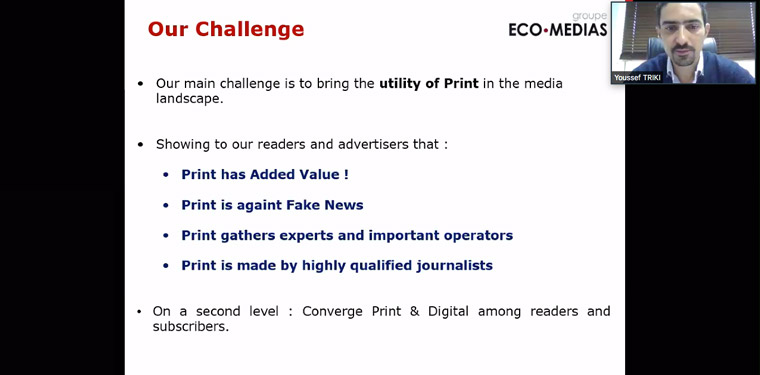 Print is the No. 1 advertising and audience strategy at Groupe Eco-Medias.