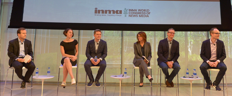 Four media publishers aired their concerns on stage with representatives from Google and Facebook.