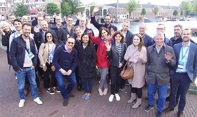 Thirty participants took part in the two-day study tour, visiting 11 innovative news media companies and support companies throughout Amsterdam.