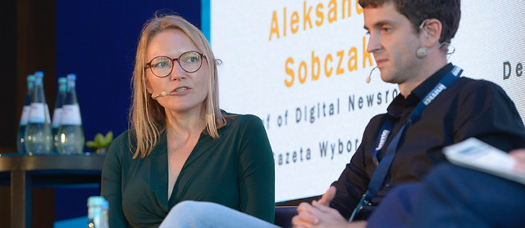 Aleksandra Sobczak, chief of digital newsroom at Gazeta Wyborcza, says the project was important but not fully embraced by readers.