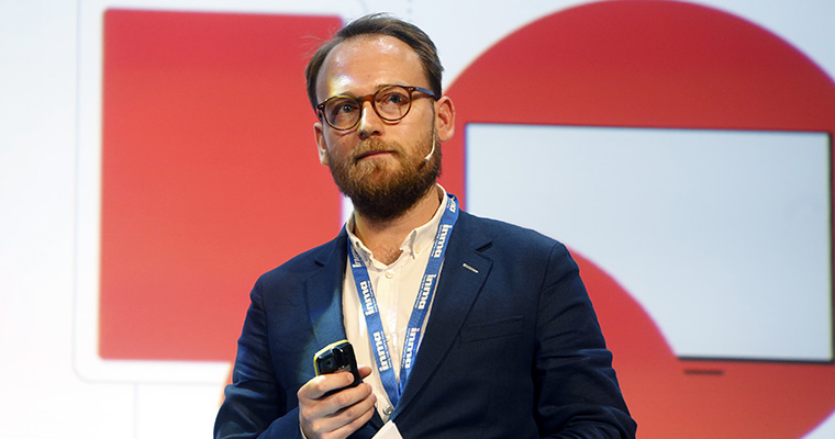 Jakob Nielsen, business development manager at Ekstra Bladet, talks programmatic print at the INMA European News Media Conference.