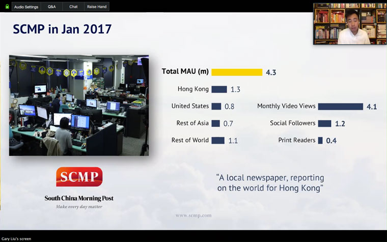 SCMP's readership numbers were good in 2017, but they weren't going to get better without change.