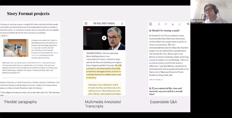 The Wall Street Journal newsroom innovation team created new story formats.