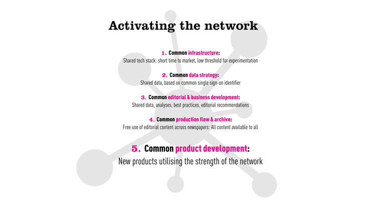 Amedia built a site of networks across Norway that share common strategies.