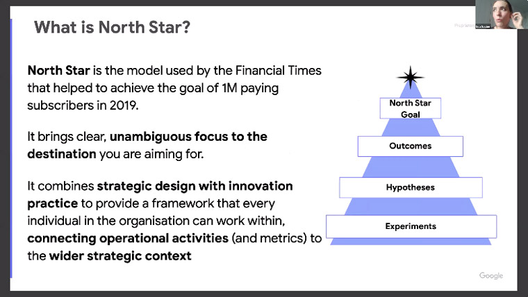 The Financial Times model of the North Star provides a way to bring clear focus to innovative and ambitious goals.