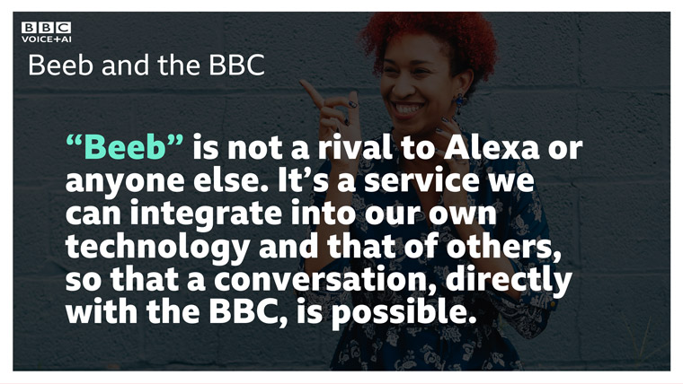 Introducing Beeb, the new voice AI assistant from the BBC.