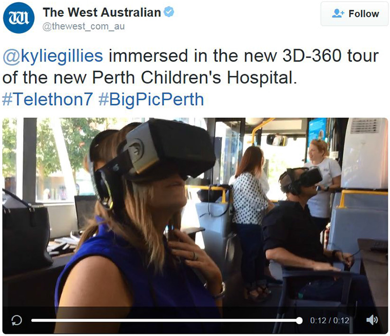 As part of the advertising campaign, the virtual reality experience was made available to the public.