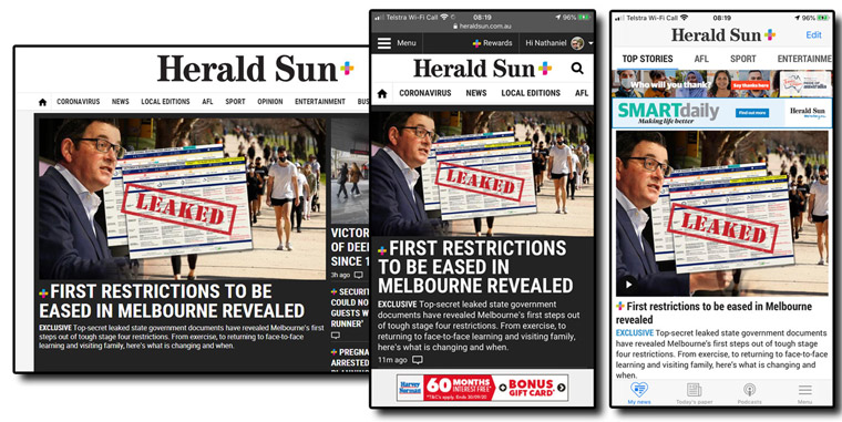 The Herald Sun has been vigilant in providing consistent, high-quality content throughout the pandemic, which has resulted in record high subscription numbers.