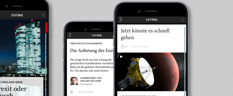 The news app contains less editorial coverage but draws more readers into its sales funnel.