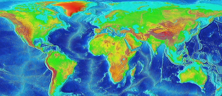 A traditional topographic map does not change much, but a topographic map based on information would show drastic changes throughout time.