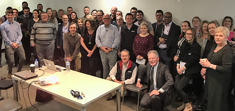 A town hall meeting at McPherson Media in Shepparton, Australia, yielded more than an hour of questions after an INMA presentation on the state of the industry.