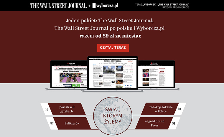 Gazeta Wyborcza has partnered with The Wall Street Journal, offering digital access in a traditionally single-copy sales culture.