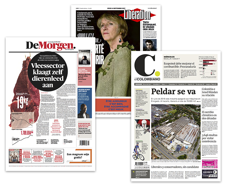 Among the best-designed print newspapers in the world are Belgium's De Morgen, France's Liberation, and Colombia's El Colombiano.
