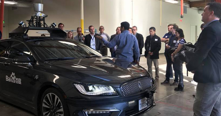 Driverless car technology innovations participants discussed at Baidu could create significant changes in the future news media landscape.