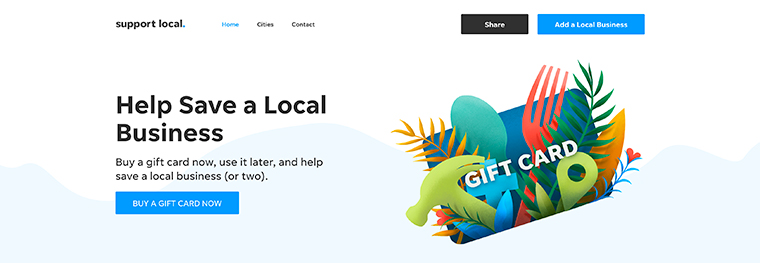 "Gannett has created a Support Local microsite, with tools like ""add your own business"" and buy a gift card."