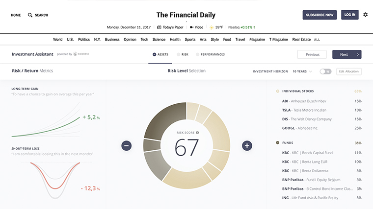 The investment assistant generates information to help everyday investors analyse any stocks, ETFs, and mutual funds in their portfolios.