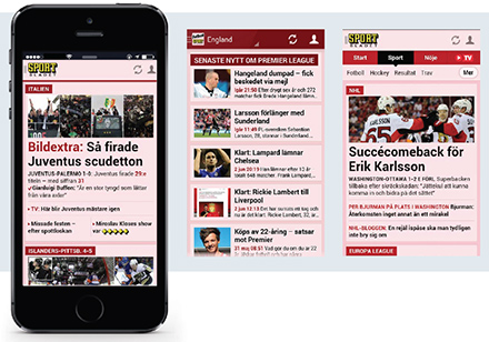 Aftonbladet's mobile apps deliver mobile news and sports via their strategy to reach audience engagement.