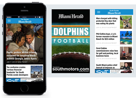 News Media Company Miami Herald grows subscribers and relates to their audience through mobile apps.