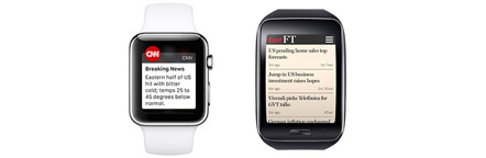 CNN and Financial Time smartwatch apps being developed