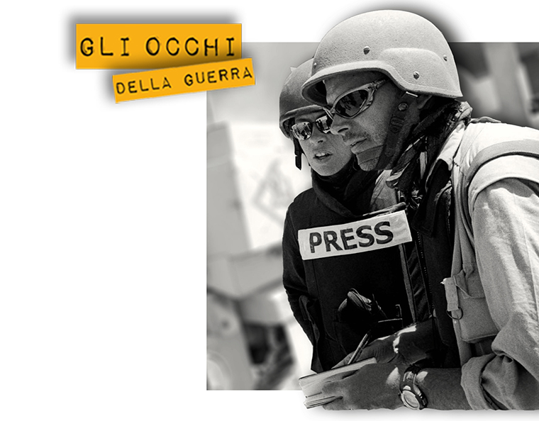 Gli Occhi della Guerra employs young reporters, who bring live news from conflict-plagued regions.