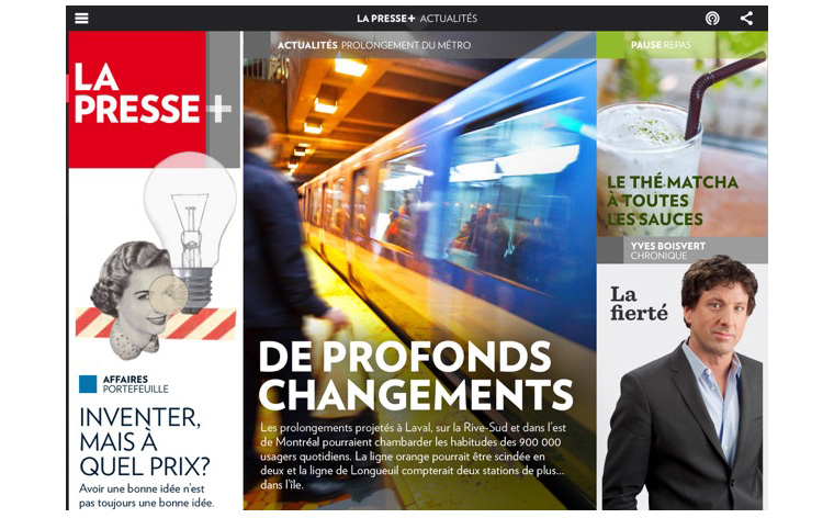 Ad sales have been strong for La Presse's digital weekday edition, with rates comparable to its legacy print product.