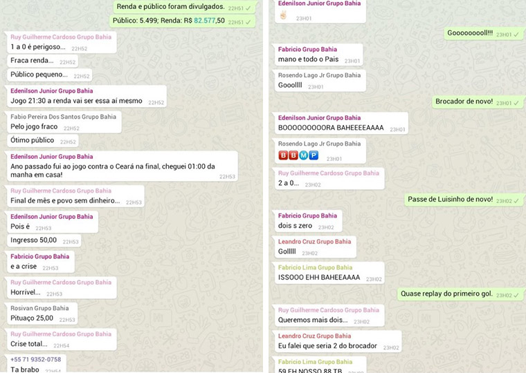 Correio's WhatsApp group launched for a football game was a great success with users.