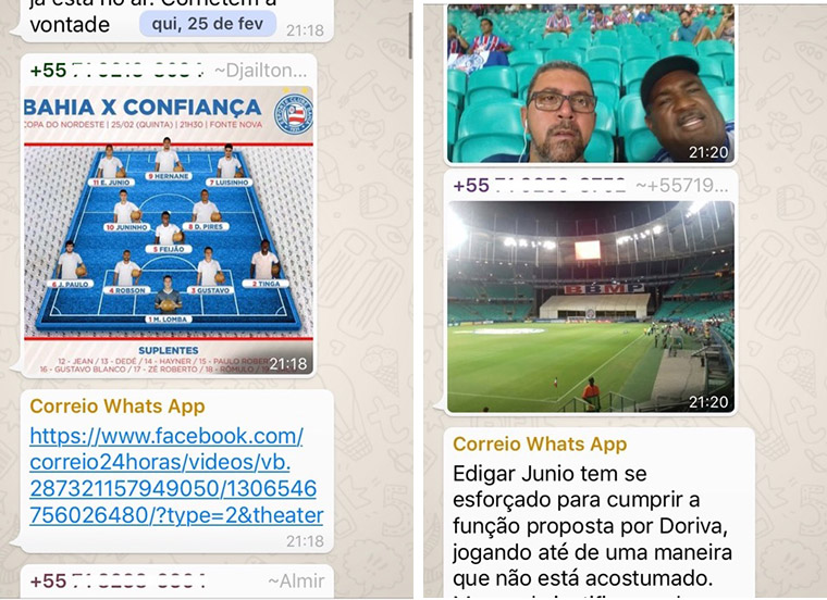 Correio readers loved the WhatsApp group so much they kept it going after the event.