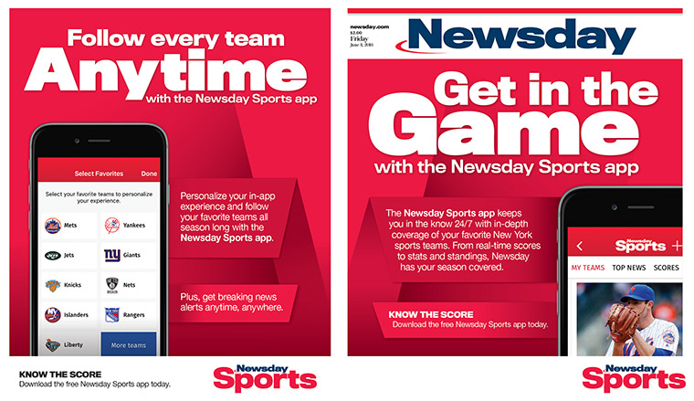 Sports fans can easily personalise coverage of their favourite local teams across the New York market, from high school up to the pros, plus the top national stories with Newsday's Sports App.