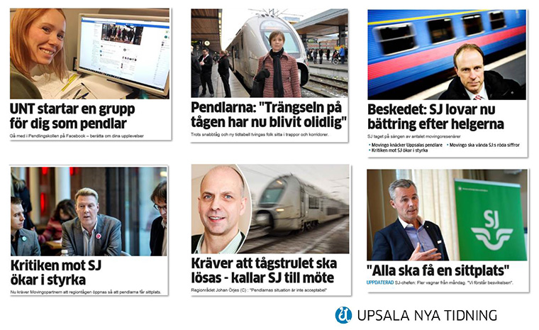 Upsala Nya Tidning was able to better serve commuters' needs by featuring relevant articles on the Facebook page, and commuters were able to make their voices heard by politicians and train companies.