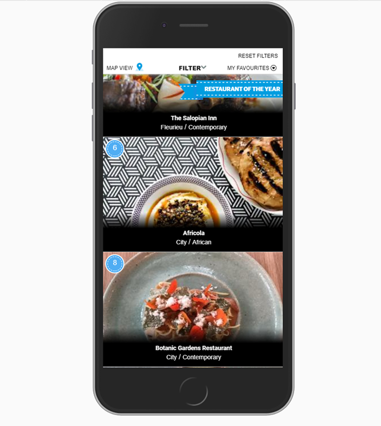 Search filters make it easy to find the right restaurant by cuisine, price, vibe, or dietary requirements.