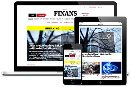 Finans' freemium two-tab navigation on different platforms.