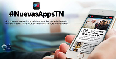 Disruptive mobile experience by Todo Noticias includes Live TV and video for its native app.