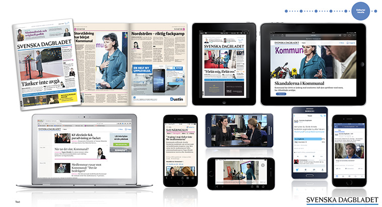 "In the past few years, Svenska Dagbladet has shifted its strategy to become a ""digital first"" organisation that also produces a print newspaper."