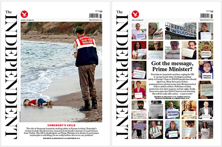 The Independent made the decision to show this photo crisp and clear to push the government to accept more refugees and prevent similar tragedies.