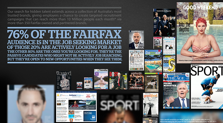 To announce the new Fairfax Employment Network, Fairfax created a video-centred campaign that reached across many of its popular brands — thus making the campaign cost effective and building on existing client relationships.
