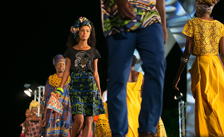 Fashion was just one part of the multi-faceted cultural production, which also included music, dance, visual arts, craft and food vendors, and workshops.