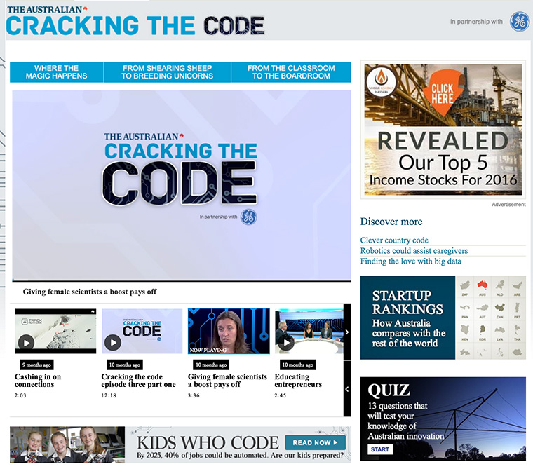 Cracking the Code examines education, innovation, and future digital opportunities.