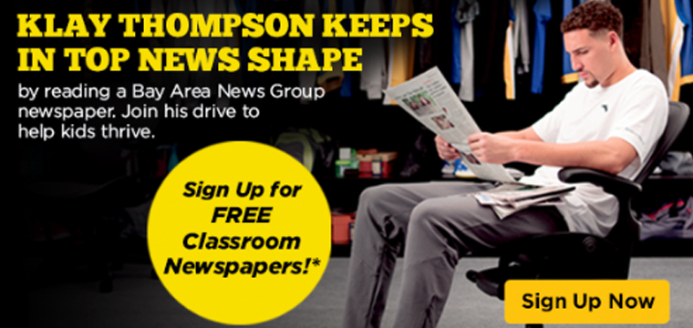 Since 2017, Klay Thompson has helped promote a daily newspaper reading habit.