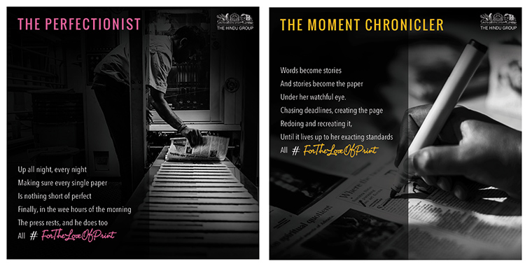 The #ForTheLoveofPrint campaign revealed the dedication and passion that goes into making the daily print product by highlighting each individual's role.