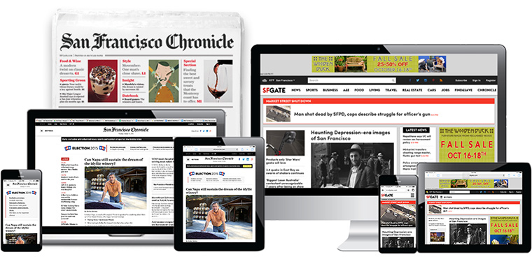 The Chronicle's digital reach is large: SFGATE.com averaged 10.4 million visits and 42 million page views a week; SFChronicle.com adds another 865,000 visits and 1.9 million page views each week.