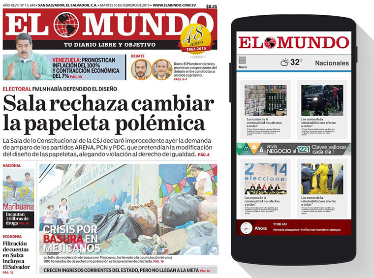 Branching out into commercial printing and distribution has strengthened Editora El Mundo's business and compensates for decreases in traditional print advertising.